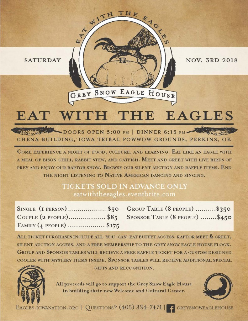 Eat with the eagles flyer